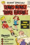 Cover for Dennis the Menace Giant (Hallden; Fawcett, 1958 series) #28 - Dennis the Menace Triple Feature!