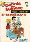 Cover for Dennis the Menace Pocket Full of Fun (Hallden; Fawcett, 1969 series) #21