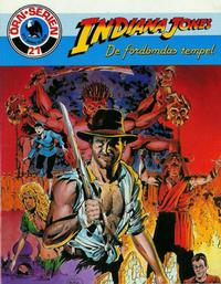 Cover Thumbnail for Örn-serien [Örnserien] (Semic, 1982 series) #21 - Indiana Jones: De fördömdas tempel