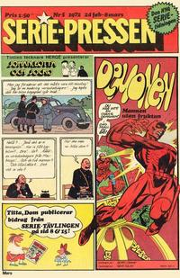 Cover Thumbnail for Seriepressen (Serie-pressen) (Saxon & Lindström, 1971 series) #5/1972