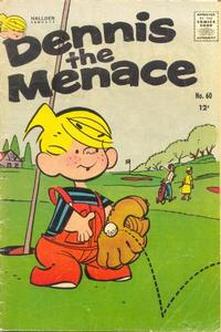 Cover for Dennis the Menace (Hallden; Fawcett, 1959 series) #60