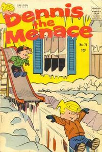 Cover Thumbnail for Dennis the Menace (Hallden; Fawcett, 1959 series) #71