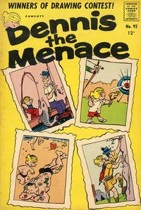 Cover for Dennis the Menace (Hallden; Fawcett, 1959 series) #92