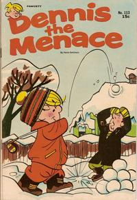 Cover for Dennis the Menace (Hallden; Fawcett, 1959 series) #113
