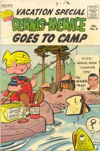 Cover Thumbnail for Dennis the Menace Giant (Hallden; Fawcett, 1958 series) #9 - Dennis the Menace Goes to Camp