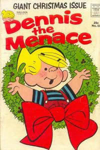 Cover Thumbnail for Dennis the Menace Giant (Hallden; Fawcett, 1958 series) #11 - Dennis the Menace Giant Christmas Issue