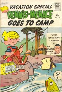 Cover Thumbnail for Dennis the Menace Giant (Hallden; Fawcett, 1958 series) #16 - Dennis the Menace Goes to Camp
