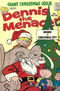 Cover Thumbnail for Dennis the Menace Giant (Hallden; Fawcett, 1958 series) #19 - Dennis the Menace Giant Christmas Issue