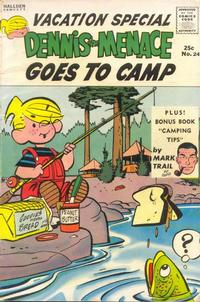Cover Thumbnail for Dennis the Menace Giant (Hallden; Fawcett, 1958 series) #24 - Dennis the Menace Goes to Camp