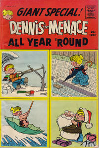 Cover Thumbnail for Dennis the Menace Giant (Hallden; Fawcett, 1958 series) #31 - Dennis the Menace All Year 'Round