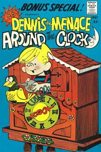Cover Thumbnail for Dennis the Menace Giant (Hallden; Fawcett, 1958 series) #44 - Dennis the Menace Around the Clock