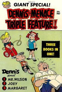 Cover Thumbnail for Dennis the Menace Giant (Hallden; Fawcett, 1958 series) #46 - Dennis the Menace Triple Feature!
