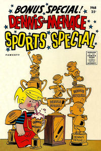 Cover Thumbnail for Dennis the Menace Giant (Hallden; Fawcett, 1958 series) #52 - Dennis the Menace Sports Special