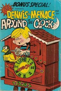 Cover Thumbnail for Dennis the Menace Giant (Hallden; Fawcett, 1958 series) #65 - Dennis the Menace Around the Clock