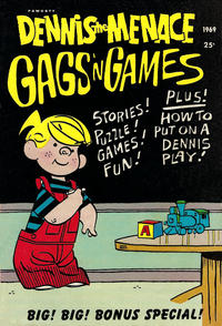 Cover Thumbnail for Dennis the Menace Giant (Hallden; Fawcett, 1958 series) #66 - Dennis the Menace Gags 'n Games