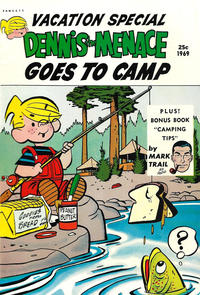 Cover Thumbnail for Dennis the Menace Giant (Hallden; Fawcett, 1958 series) #67 - Dennis the Menace Goes to Camp