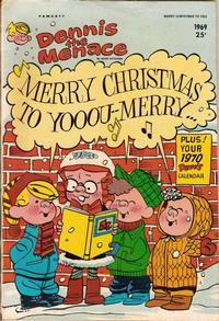 Cover Thumbnail for Dennis the Menace Giant (Hallden; Fawcett, 1958 series) #75 - Dennis the Menace Merry Christmas to You