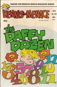 Cover Thumbnail for Dennis the Menace Bonus Magazine Series (Hallden; Fawcett, 1970 series) #150