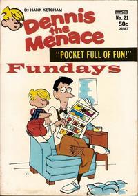 Cover Thumbnail for Dennis the Menace Pocket Full of Fun (Hallden; Fawcett, 1969 series) #21
