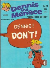 Cover Thumbnail for Dennis the Menace Pocket Full of Fun (Hallden; Fawcett, 1969 series) #34