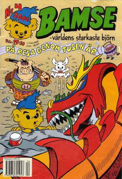 Cover for Bamse (Egmont, 1997 series) #4/2000