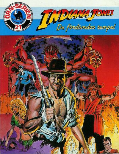Cover for Örn-serien [Örnserien] (Semic, 1982 series) #21 - Indiana Jones: De fördömdas tempel