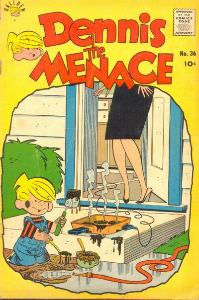 Cover for Dennis the Menace (Hallden; Fawcett, 1959 series) #36