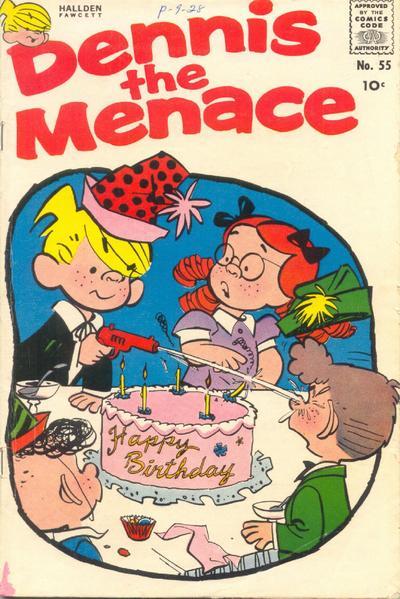 Cover for Dennis the Menace (Hallden; Fawcett, 1959 series) #55