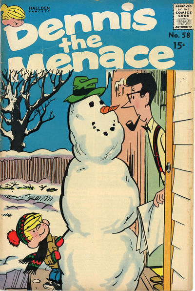 Cover for Dennis the Menace (Hallden; Fawcett, 1959 series) #58
