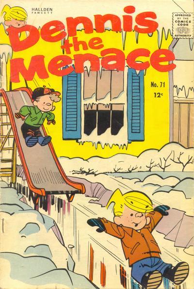 Cover for Dennis the Menace (Hallden; Fawcett, 1959 series) #71