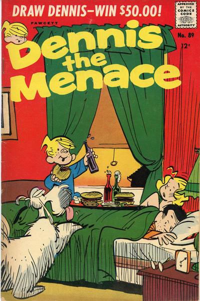 Cover for Dennis the Menace (Hallden; Fawcett, 1959 series) #89