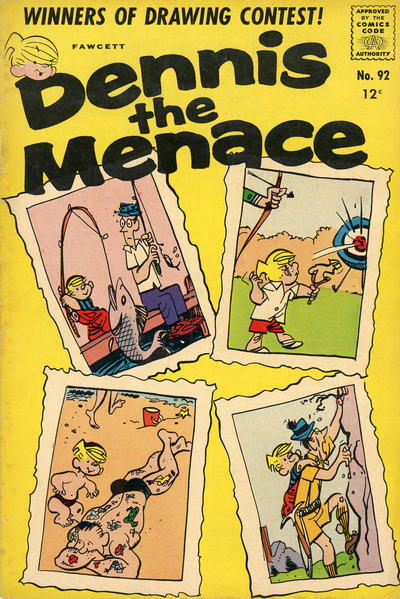 Cover for Dennis the Menace (Hallden; Fawcett, 1959 series) #92