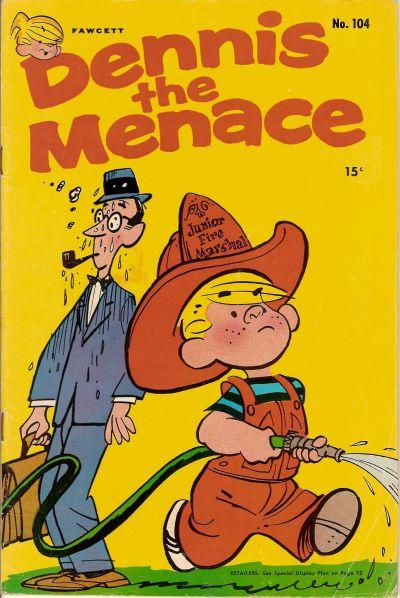 Cover for Dennis the Menace (Hallden; Fawcett, 1959 series) #104