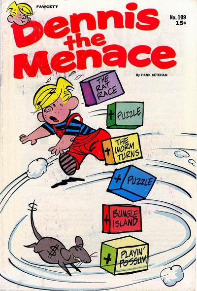 Cover for Dennis the Menace (Hallden; Fawcett, 1959 series) #109