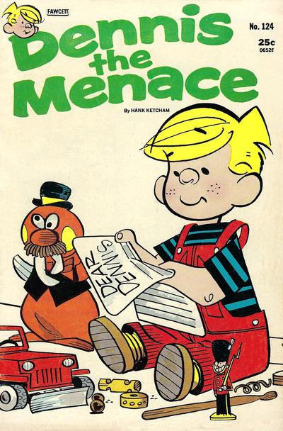 Cover for Dennis the Menace (Hallden; Fawcett, 1959 series) #124