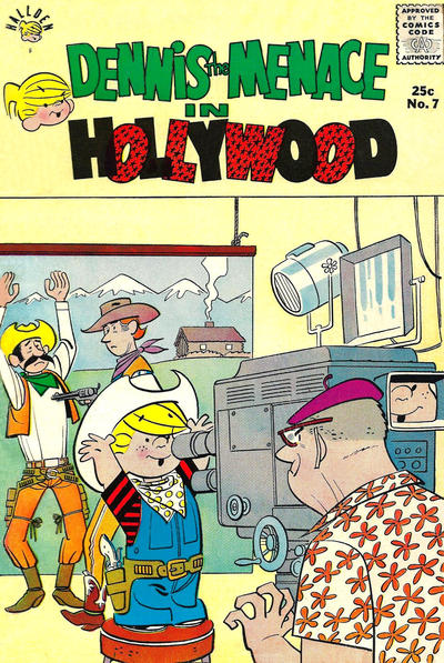 Cover for Dennis the Menace Giant (Hallden; Fawcett, 1958 series) #7 - Dennis the Menace in Hollywood [First Printing]