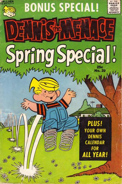 Cover for Dennis the Menace Giant (Hallden; Fawcett, 1958 series) #20 - Dennis the Menace Spring Special!