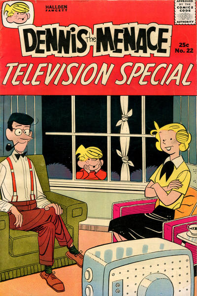 Cover for Dennis the Menace Giant (Hallden; Fawcett, 1958 series) #22 - Dennis the Menace Television Special