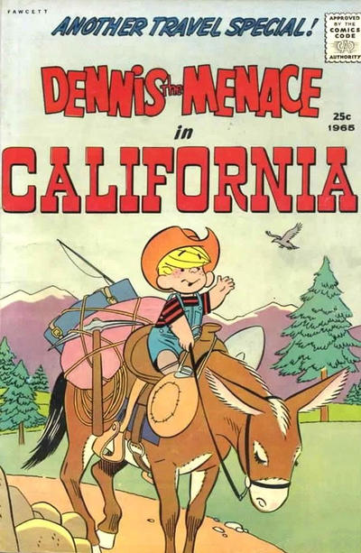 Cover for Dennis the Menace Giant (Hallden; Fawcett, 1958 series) #33 - Dennis the Menace in California