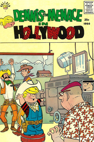 Cover for Dennis the Menace Giant (Hallden; Fawcett, 1958 series) #42 - Dennis the Menace in Hollywood