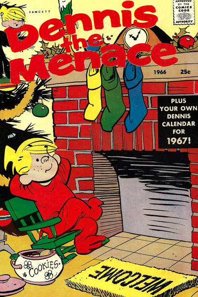 Cover for Dennis the Menace Giant (Hallden; Fawcett, 1958 series) #43 - Dennis the Menace [Christmas Special]