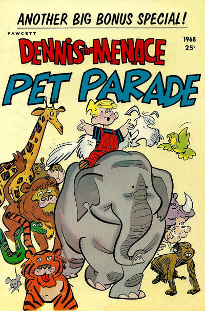 Cover for Dennis the Menace Giant (Hallden; Fawcett, 1958 series) #57 - Dennis the Menace Pet Parade