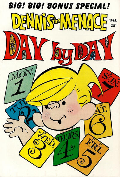 Cover for Dennis the Menace Giant (Hallden; Fawcett, 1958 series) #59 - Dennis the Menace Day by Day