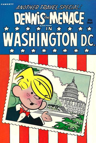 Cover for Dennis the Menace Giant (Hallden; Fawcett, 1958 series) #72 - Dennis the Menace in Washington D.C.