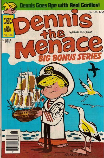 Cover for Dennis the Menace Bonus Magazine Series (Hallden; Fawcett, 1970 series) #186