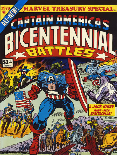 Cover for Marvel Treasury Special Featuring Captain America's Bicentennial Battles (Marvel, 1976 series) #1