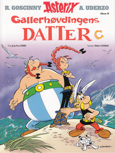 Cover for Asterix (Hjemmet / Egmont, 1969 series) #38 - Gallerhøvdingens datter [Bokhandelutgave]