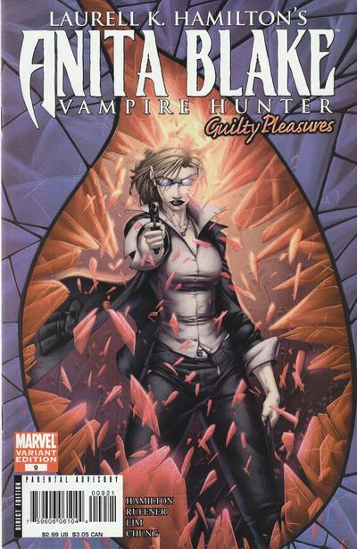 Cover for Anita Blake: Vampire Hunter in Guilty Pleasures (Marvel, 2006 series) #9 [Brett Booth]