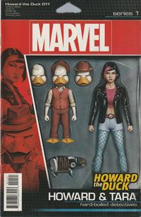 Cover Thumbnail for Howard the Duck (Marvel, 2016 series) #11 [Variant Edition - Action Figure (Howard and Tara) - John Tyler Christopher Cover]