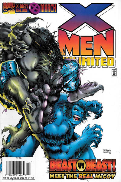 Cover for X-Men Unlimited (Marvel, 1993 series) #10 [Direct Edition]